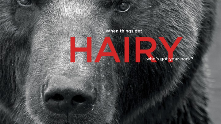 When things get hairy, who's got your back?