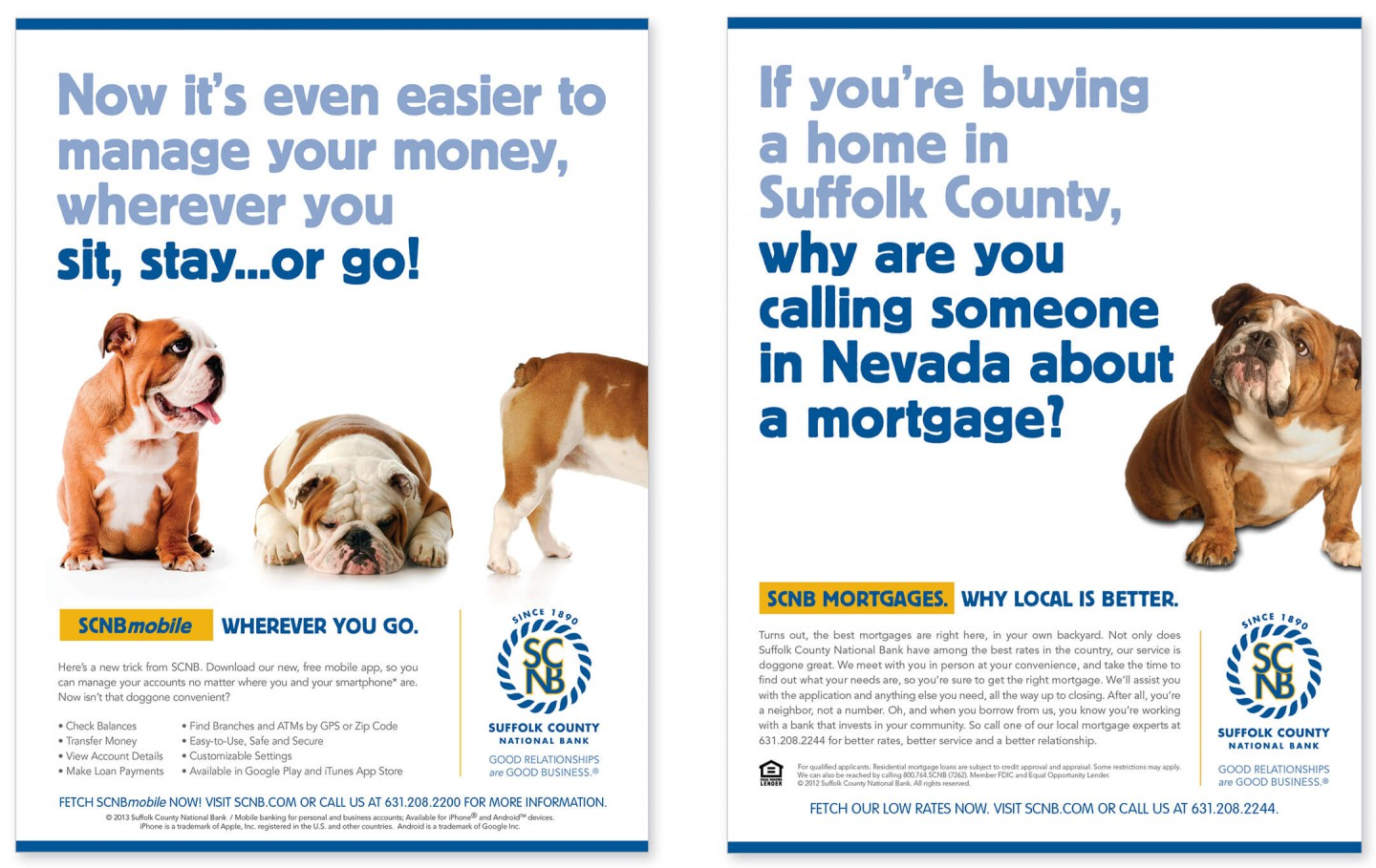 Ad for Suffolk County National Bank