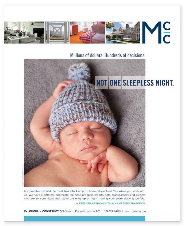 Ad for McLoughlin Construction Company