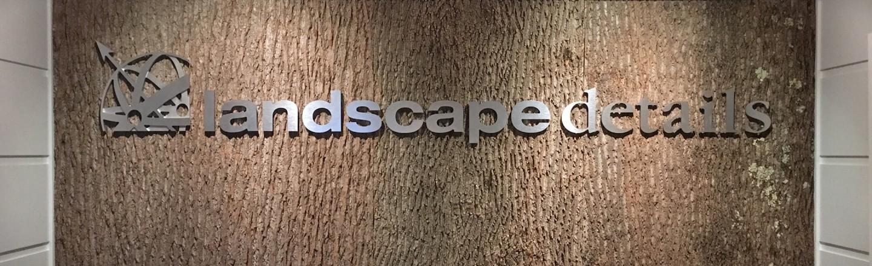 Landscape Details wall-mounted logo
