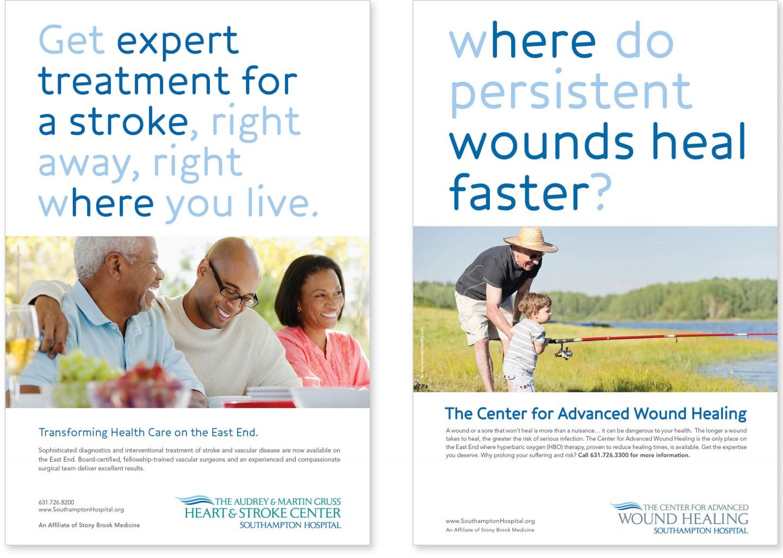 Southampton Hospital print ads