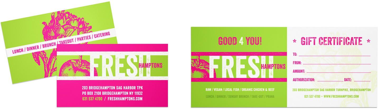 Fresh business card & postcard