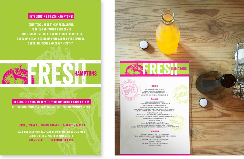 Fresh menu