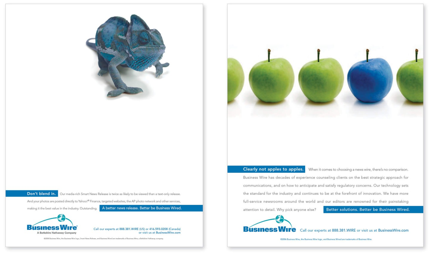 Business Wire print ad
