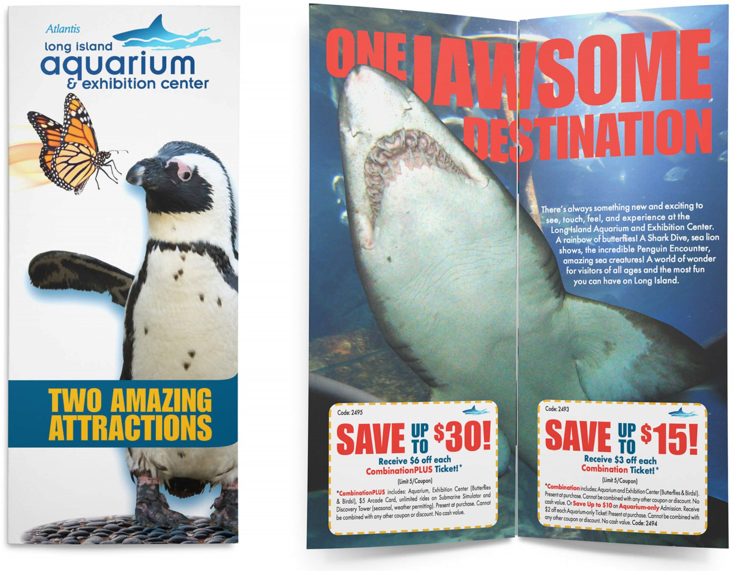 Long Island Aquarium brochure