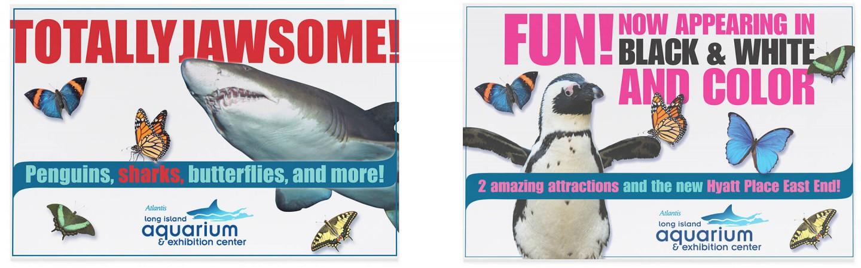 Long Island Aquarium print ads