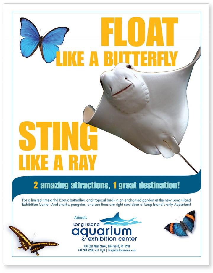 Long Island Aquarium print ad