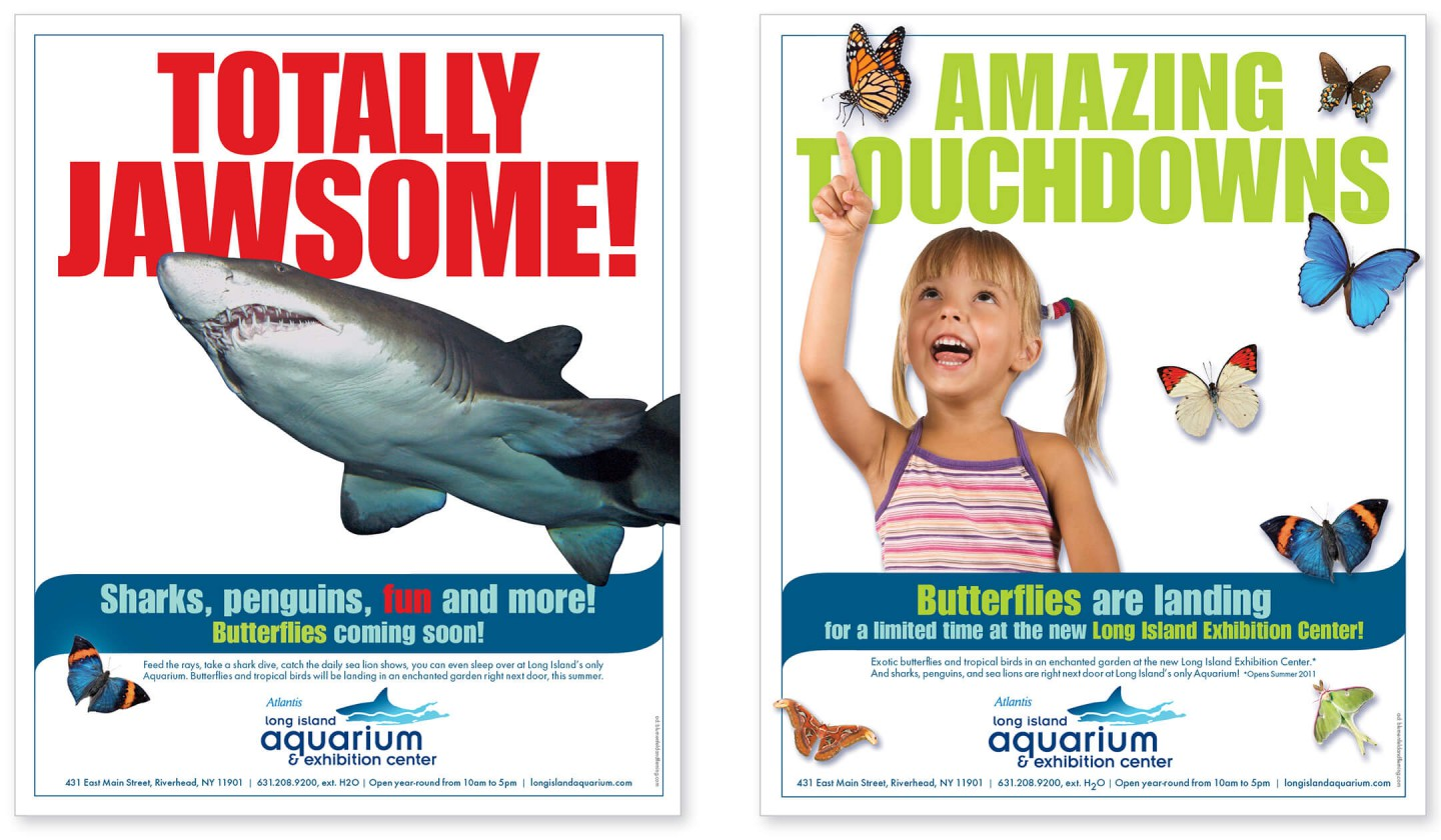 Long Island Aquarium print ads