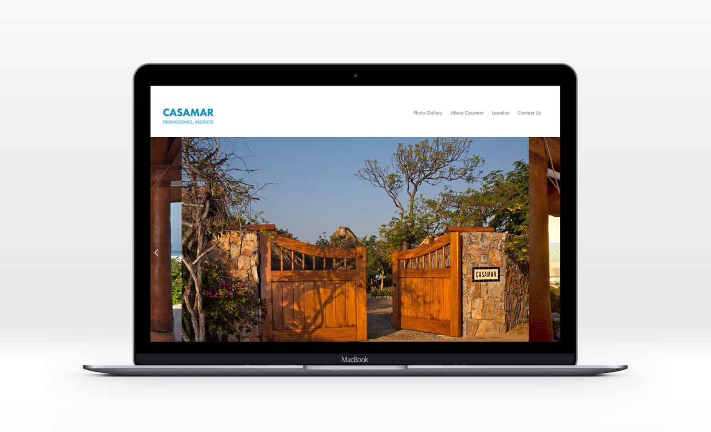 Casamar website laptop view