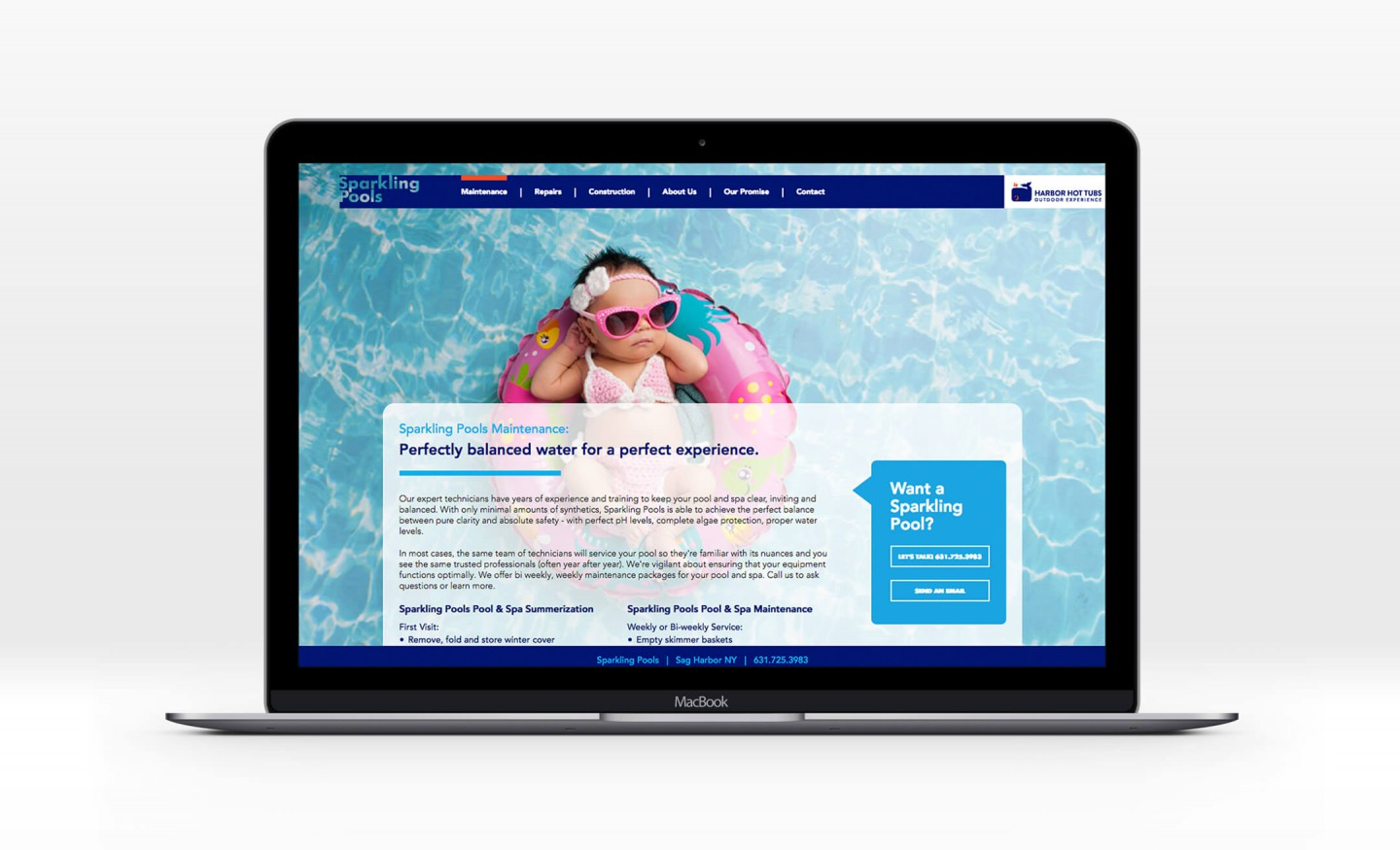 Sparkling Pools website
