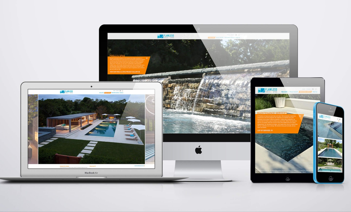 Flawless Pools website