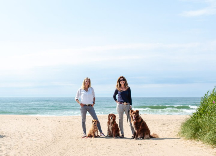 Lynn and Jill with their dogs