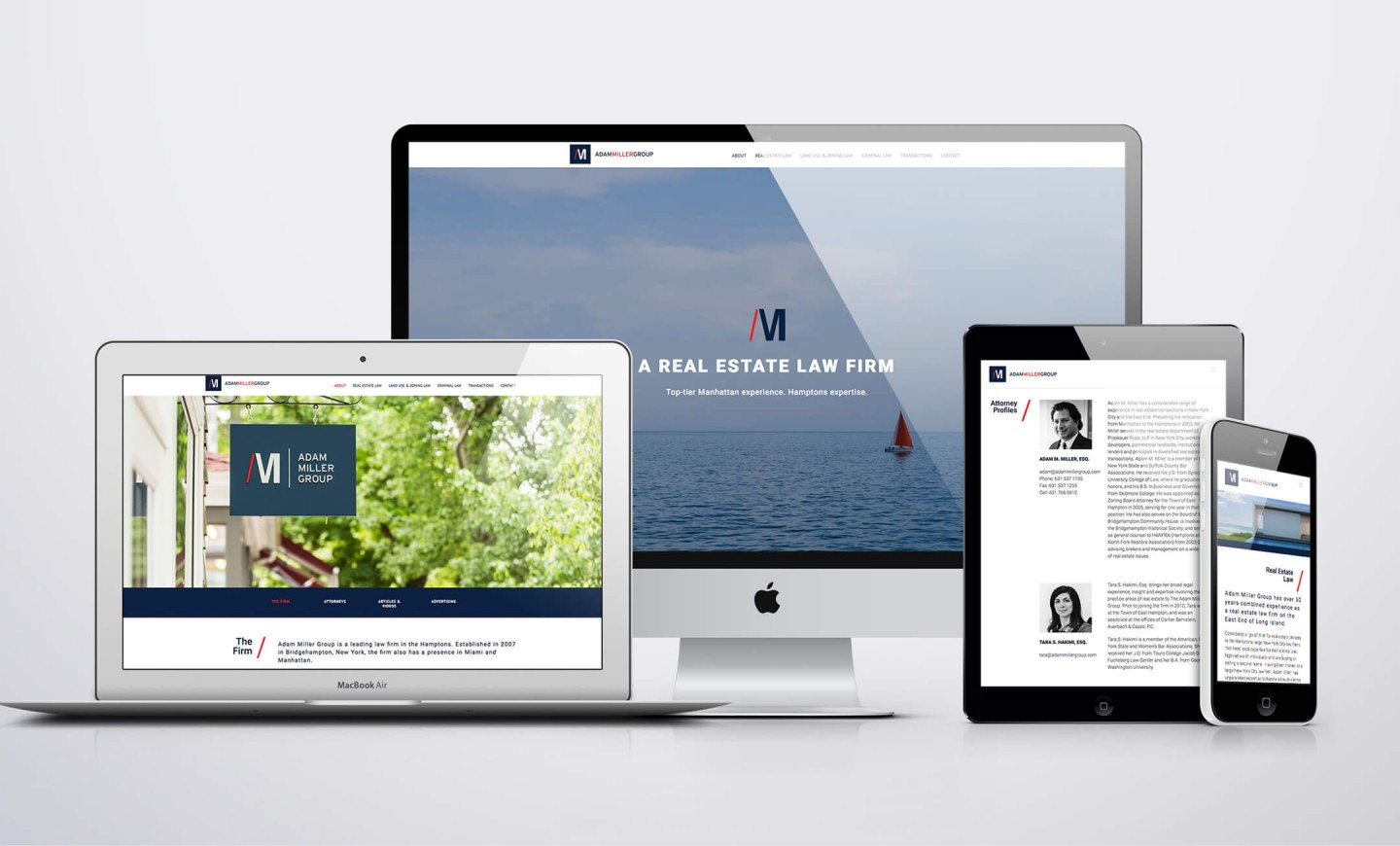 Adam Miller Group responsive website design views
