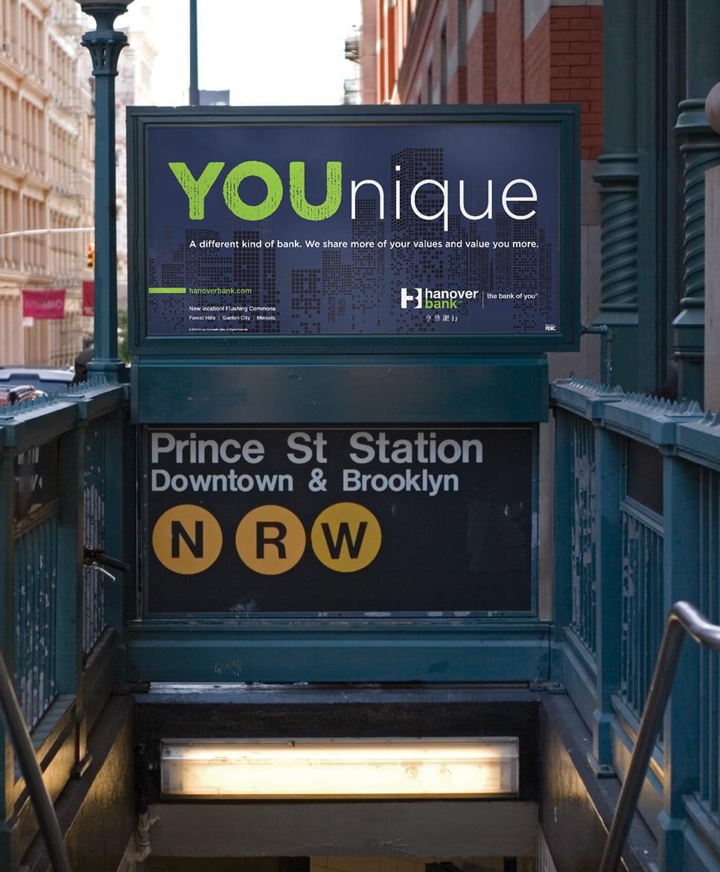 Hanover Bank subway ad