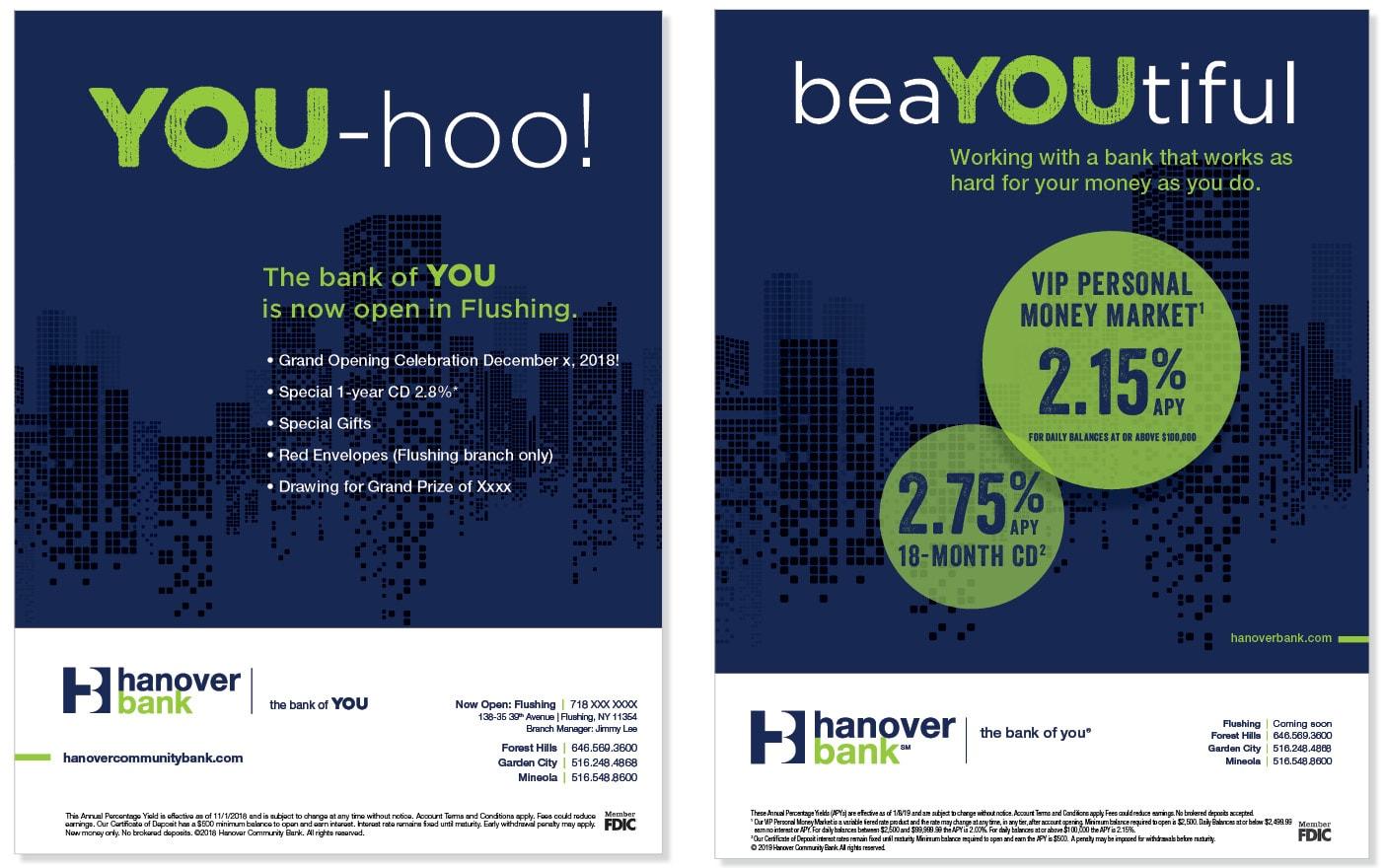 Hanover Bank ads
